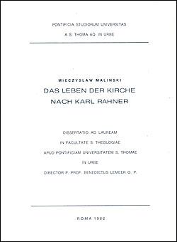 """""""Das Leben der Kirche nach Karl Rahner"""""""